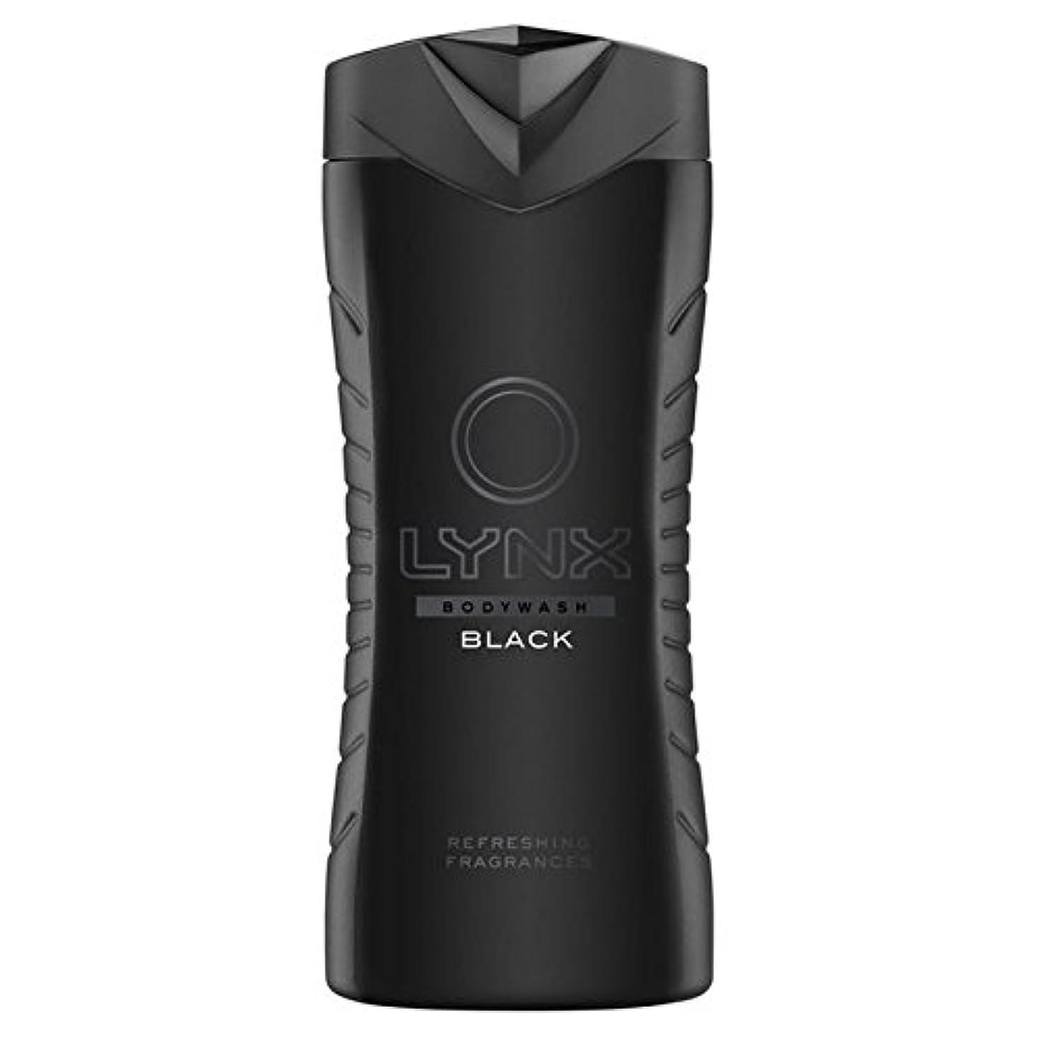 直面するチョーク盆オオヤマネコブラックシャワージェル400ミリリットル x4 - Lynx Black Shower Gel 400ml (Pack of 4) [並行輸入品]