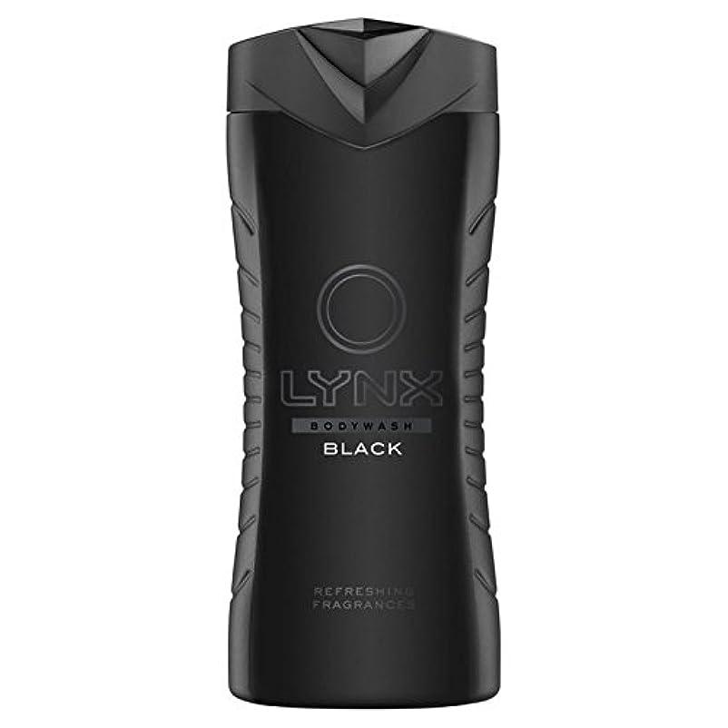 許容微弱不純オオヤマネコブラックシャワージェル400ミリリットル x2 - Lynx Black Shower Gel 400ml (Pack of 2) [並行輸入品]