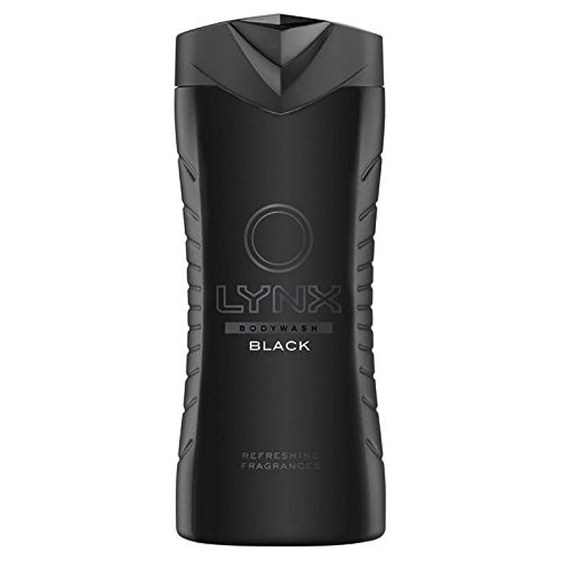 ドキュメンタリーフォローアラスカLynx Black Shower Gel 400ml - オオヤマネコブラックシャワージェル400ミリリットル [並行輸入品]
