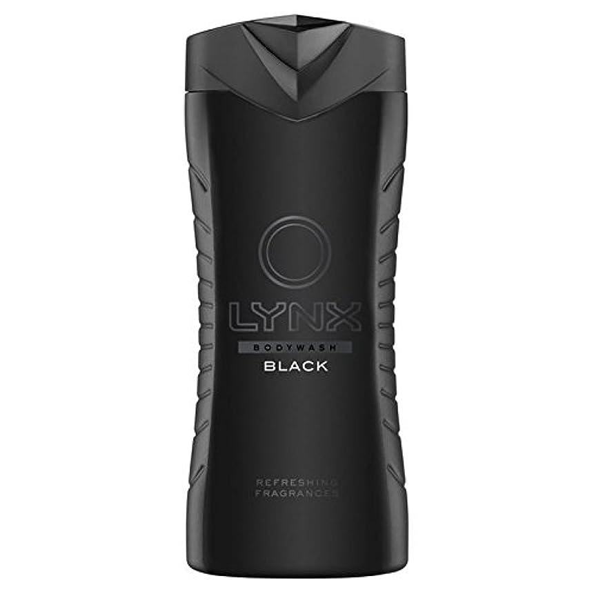ピック謙虚な仕様Lynx Black Shower Gel 400ml (Pack of 6) - オオヤマネコブラックシャワージェル400ミリリットル x6 [並行輸入品]