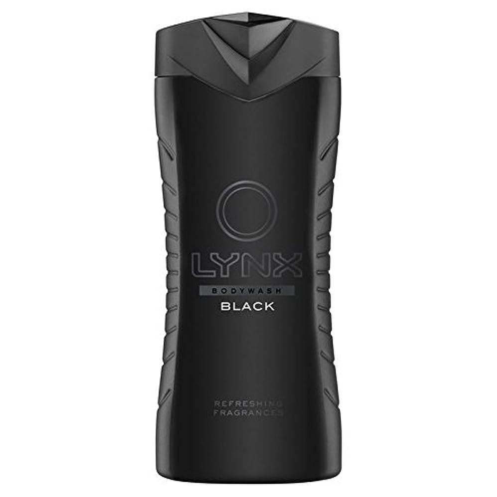 魅力的のために前部Lynx Black Shower Gel 400ml - オオヤマネコブラックシャワージェル400ミリリットル [並行輸入品]
