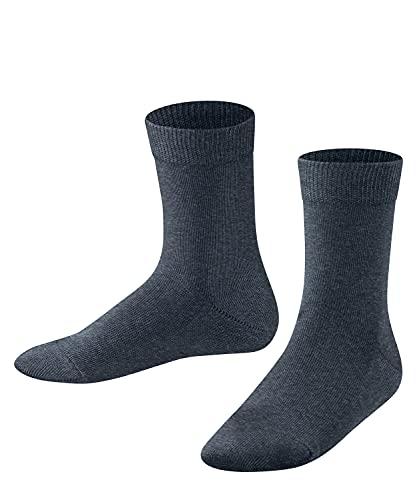 FALKE Unisex Kinder Family K SO Socken, Blau (Navyblue Mel. 6490), 35-38 (9-12 Jahre)