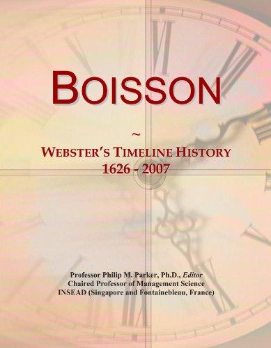 Boisson: Webster's Timeline History, 1626 - 2007