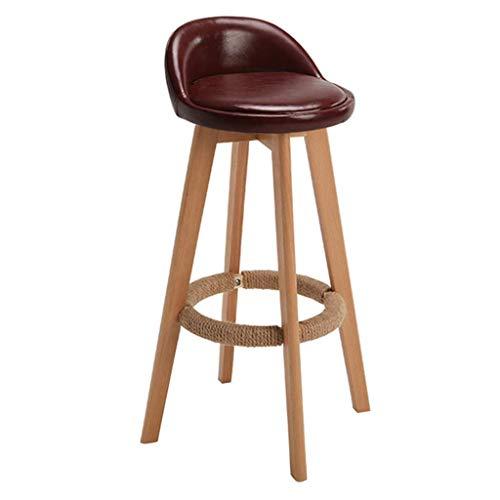 MTCGH Stühle, Hochstühle, Barstühle, Hocker Swivel Barhocker Stühle Höhe Fußstütze Kitchen Counter Frühstück Café Premium Qualität,Braun,78 cm