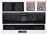 Ecoshirt GL-0BIZ-SYBC Pegatina Sticker Shock Rock Shox Monarch Plus Rc3 Am203 Aufkleber Decals Autocollants Amortiguador MTB Downhill, Gris