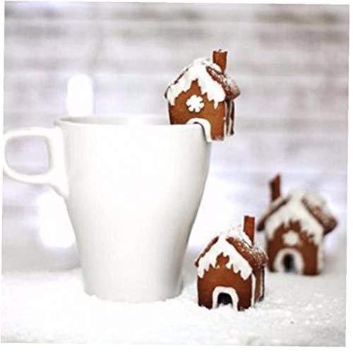 3PCS Weihnachten Lebkuchen-Haus Keks Ausstecher Edelstahl-Plätzchen-Form