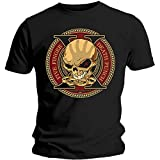 Five Finger Death Punch Decade of Destruction Camiseta, Negro (Black Black), X-Large para Hombre