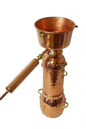 CopperGarden® Destille Alquitara Plus 2 Liter - Profidestille zur Destillation von ätherischen Ölen und Hydrolaten - Legal für Privat und Gewerbe
