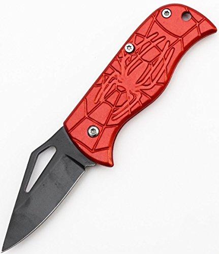 World Legal Falten Klappmesser Taschenmesser Klinge 5cm Rotes Spinnen Muster