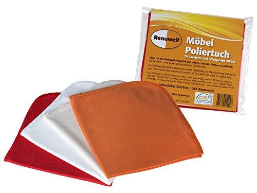 Möbel-Poliertuch, 4er Pack für alle Oberflächen, bei 60° C waschbar