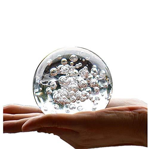 TYGJB Mármoles de Cristal Fuente de Agua Burbuja Bola Feng Shui Bolas de Vidrio Decorativas Hogar Interior Fuente de Agua Figuras (80mm)