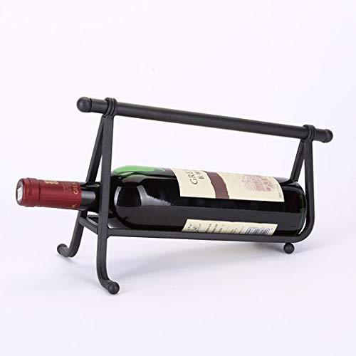 DAGONGREN Simple Hierro Forjado Solo Botella Vino Estante Vino Estante decoración Creativa exhibición de Vino Botella de Vino Bastidor de Vino Europeo