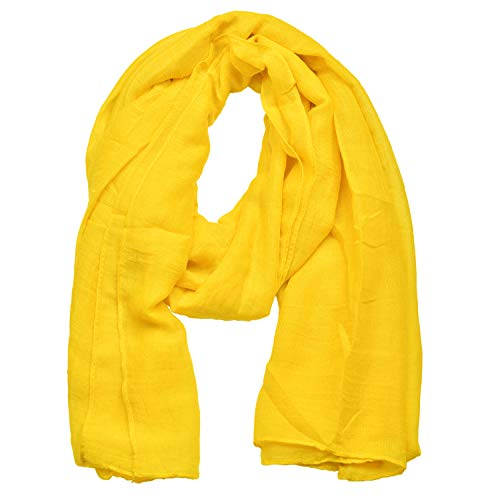 Woogwin Light Soft Scarves Fashion Scarf Shawl Wrap For Women Men (Yellow)