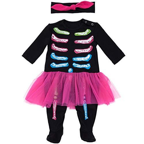 NUOBESTY Halloween Infant Toddler Baby Jumpsuit Skeleton Skull Bodysuit...
