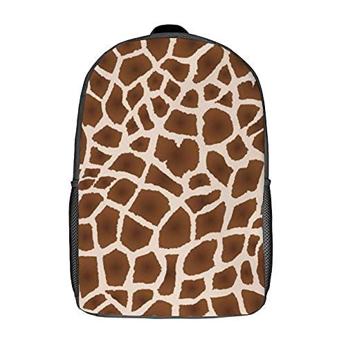Zaini, borse per la scuola, zaino per computer, zaino a spalla per donna/ragazzo/uomo/viaggi/affari 43,2 cm (pelle di giraffa)