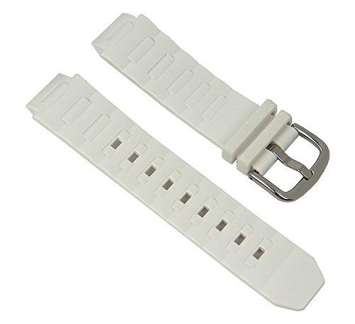 Casio - Correa de reloj de resina para BGA-150 BGA-151, color blanco