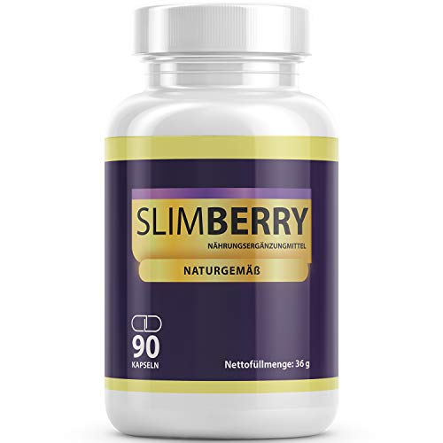 Slimberry Maxi-Pack 90 Cápsulas l 100% Ingredientes naturales con bayas de Acai - Muy buena compatibilidad - principio de 2 fases (1 lata)