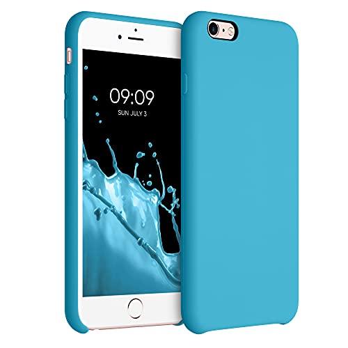 kwmobile Carcasa Compatible con Apple iPhone 6 Plus   6S Plus - Funda de Silicona para móvil - Cover Trasero en Azul Celeste