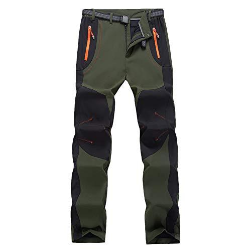 Freiesoldaten Hombres Al Aire Libre Pantalones de Senderismo Ligero Resistente al Agua Caminando Pantalones de Caza con Cinturón