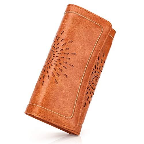 APHISONUK Femme Porte-Cartes de crédit en Cuir, Porte-Cartes et Porte-Cartes d'identité Porte-Monnaie Cadeau Noël, Une Fête, Un Anniversaire