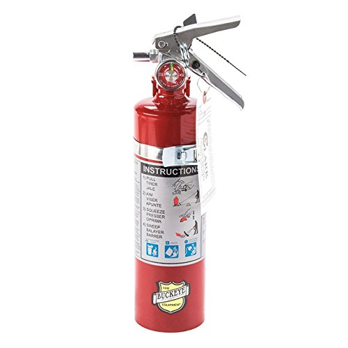 (Lot of 1) 2 1/2 Lb. Type ABC Dry Chemical Fire Extinguishers, with 1 - Vehicle Brackets and 1 - Yellow Inspection Tag