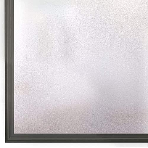 Rabbitgoo 窓ガラス目隠しフィルム 目隠しシート ガラスフィルム 窓 剥がせる すりガラスシート 水で貼るだけ 飛散防止 台風対策 uvカット 窓 めかくしシート 窓用フィルム 曇りガラスフィルム 飛散防止フィルム 断熱シート(すりガラス調 44.5x200cm)