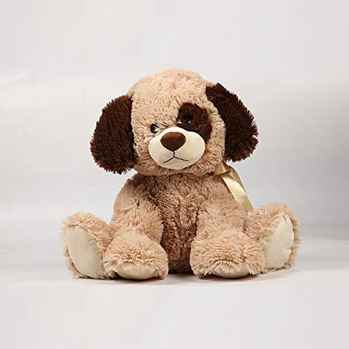 Juguete de peluche para perro, cojín de juguete, peluche, perrito para bebés, artículo decorativo para salón, dormitorio infantil, niña, niño, beige, 25 cm