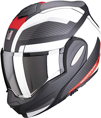 Scorpion EXO-TECH TRAP Matt black-Red-White L