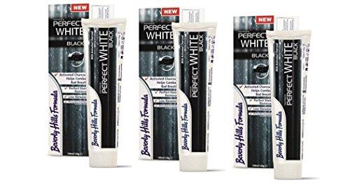 3 x Beverly Hills Formula Perfect White Zahncreme BLACK 100ml (= 300ml)