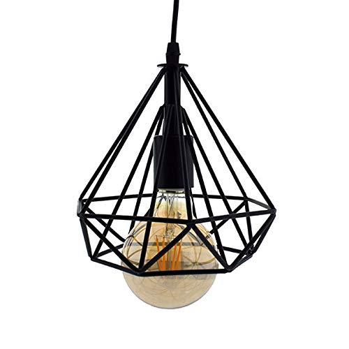 Lámpara de Techo Vintage 3L Cage Retro Iluminación E27 Capacidad AC220-240 V...