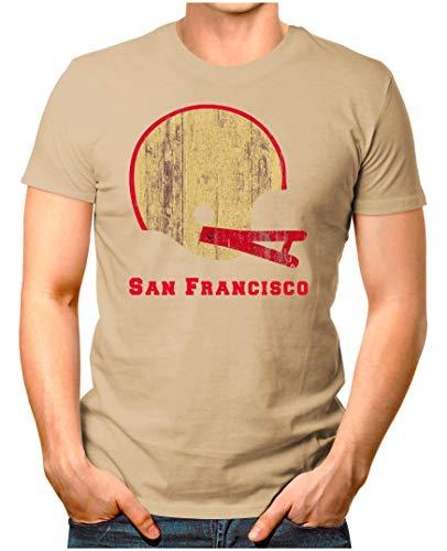 OM3® - San-Francisco-Helm - T-Shirt   Herren   American Football Shirt   XXL, Khaki