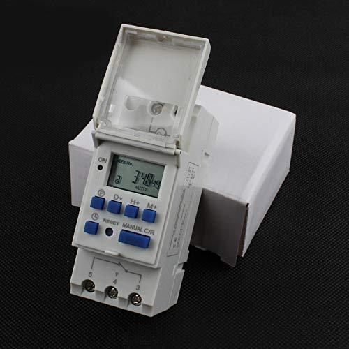 Preisvergleich Produktbild Tp8a16 Zeitschaltuhr Hutschienen-digital wöchentlich programmierbarer elektronischer Mikrocomputer Zeitschaltuhr 220V 110V 30A 12V Glockenring Relais, 48V