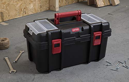 Keter Classic Tool Box 19' Plastic Portable Organizer Tool Box Storage Solution (4-(Pack))
