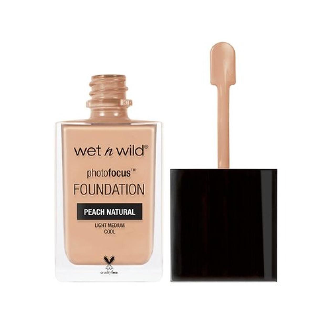 発明無駄に鳴らす(6 Pack) WET N WILD Photo Focus Foundation - Peach Natural (並行輸入品)
