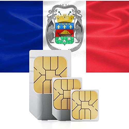 Prepaid 3GB Daten SIM-Karte Mit Maximaler Geschwindigkeit Für Die Nutzung In Den USA Oder Den Karibik-Inseln (Französisch-Guayana, Guadeloupe, Martinique, Saint Martin) – 60 Tage Gültig