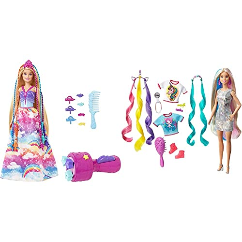 Barbie Dreamtopia Principessa Chioma Da Favola, Bambola Con Extension Arcobaleno...