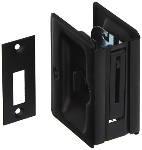 Deltana SDLA325 3-1/4u0022 Tall Pocket Door Privacy Lock - Flat Black