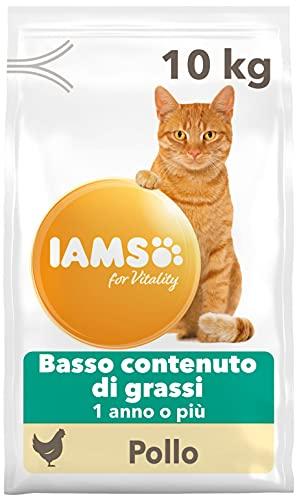 IAMS for Vitality Cibo Secco per Gatti Adulti Sterilizzati con Pollo Fresco a Basso Contenuto di Grassi, 10 kg
