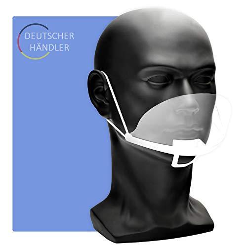 protezione del viso in plexiglass | visiera in plastica | visiera protettiva in trasparente | protezione universale per bocca e naso | maschera mento