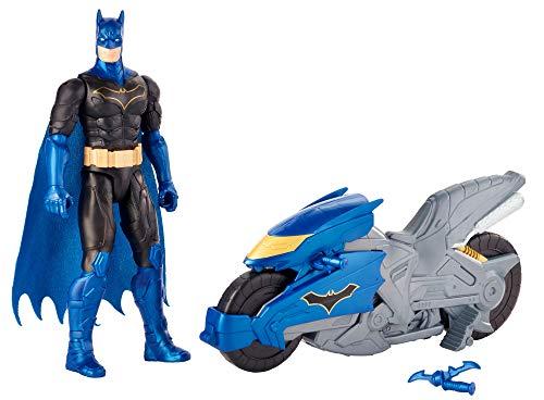 DC COMICS Batman Missions - Figura de Batman de 30cm y Batmoto, juguetes niños +4 años (Mattel FVY27)