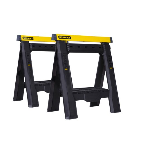 Stanley STST60626 Adjustable Sawhorse Twin Pack