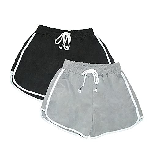 Adicloz Short Femme Sport Casual Léger Pyjama Short Femme Été Élastique Confortable Short Sport Femme pour Gym Fitness Jogging Yoga S-XL