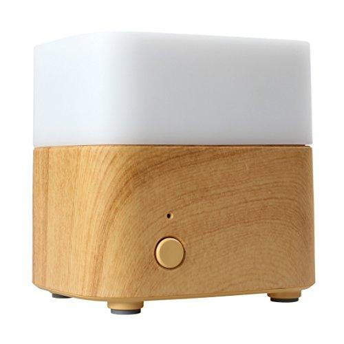 BANGWEIER - Umidificatore a ultrasuoni con diffusore di oli essenziali da 120 ml, a 7 colori, con funzione di spegnimento automatico senza acqua, per casa e ufficio
