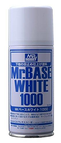 GSIクレオス Mr.ベースホワイト 1000 スプレー 180ml ホビー用仕上材 B518