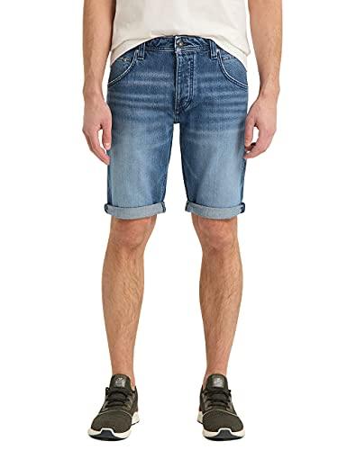 MUSTANG Herren Michigan Shorts, Mittelblau, 30W