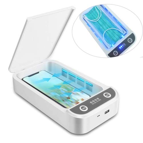 Portable UV Light Box - EPA Certified UVC Ultraviolet Travel Case for Cleaning Phones, Masks, Toys, Baby Pacifiers, Bottle Nipples - USB Cable included - Best Gift Idea 2020 for Men, Women & Adults