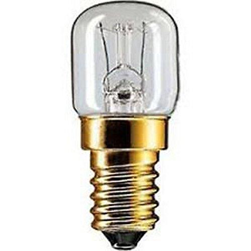 PHILIPS 15T22F LAMPADINA PER FORNO 300° 15W E14 230V 2700°K 49X22mm CONFEZIONE 5 LAMPADINE