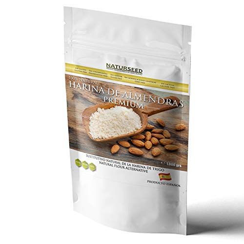 NATURSEED - Harina de Almendras Española - Alta en Proteinas y Baja en Carbohidratos - Sin Gluten - No GMO- Apta para Dietas Keto - Paleo - Low Carb - Reposteria - Panes (1000GR)