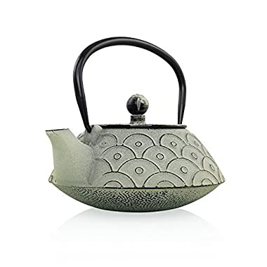 Empress of China Cast Iron Teapot | Chinese Teapot to Keep Tea Warm for Long| Non Toxic Cast Iron Tea Kettle with Infuser Basket from Resveralife| Make Time For Tea with this Cast Iron Kettle| 28 oz