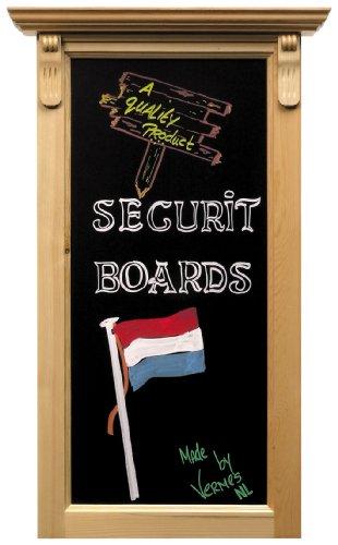 Securit gelakt sierkrijtbord, hardhout, beuken, 100 x 50 cm